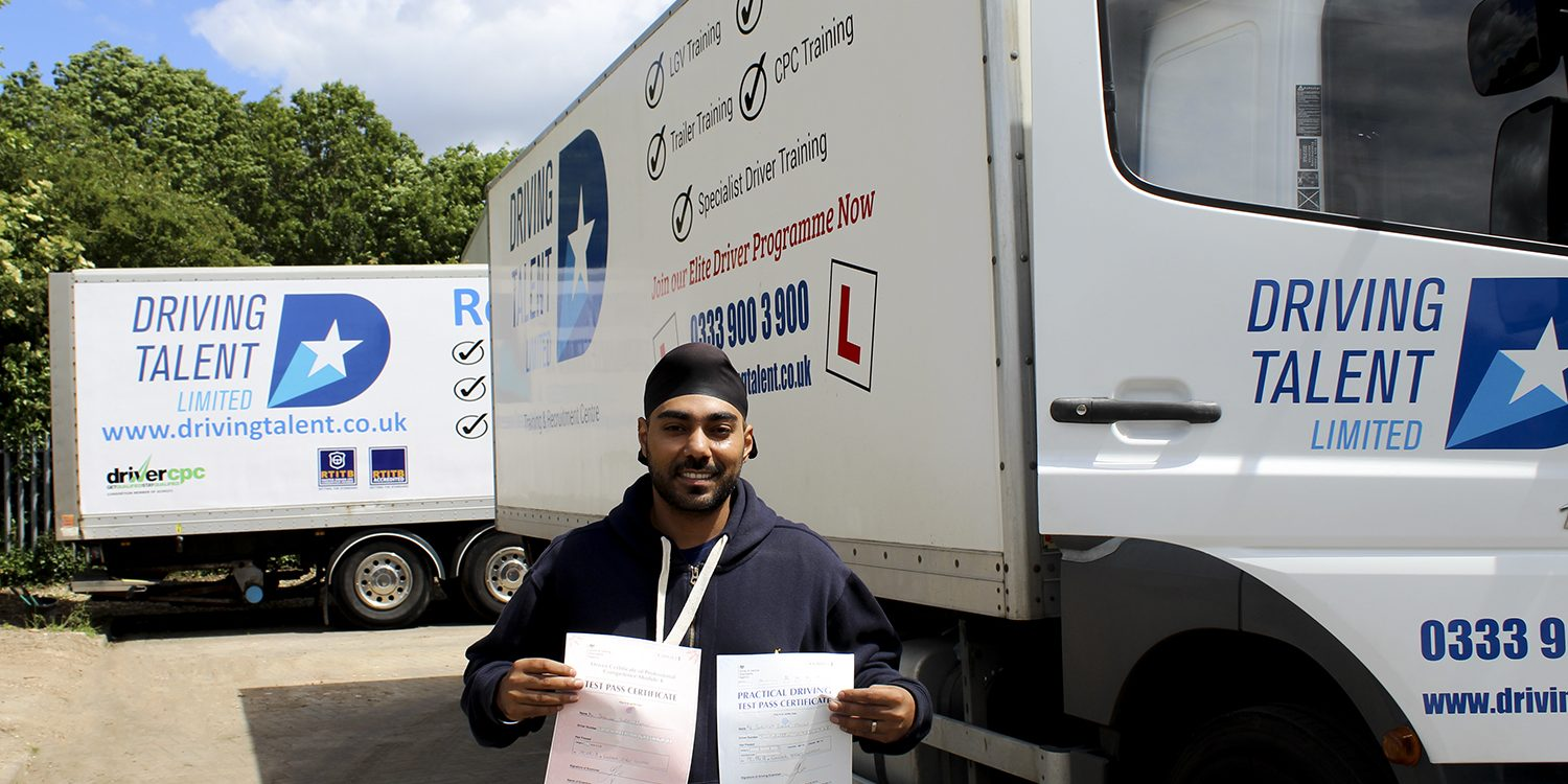Surinder Passes Driver CPC Category C Class 2 Tests