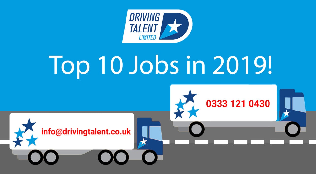 Top 10 Jobs in the Uk for 2019 graphic