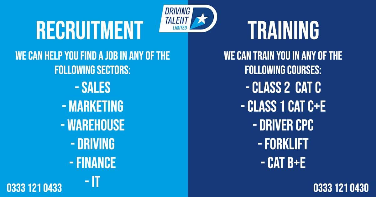 recruitment and training jobs info